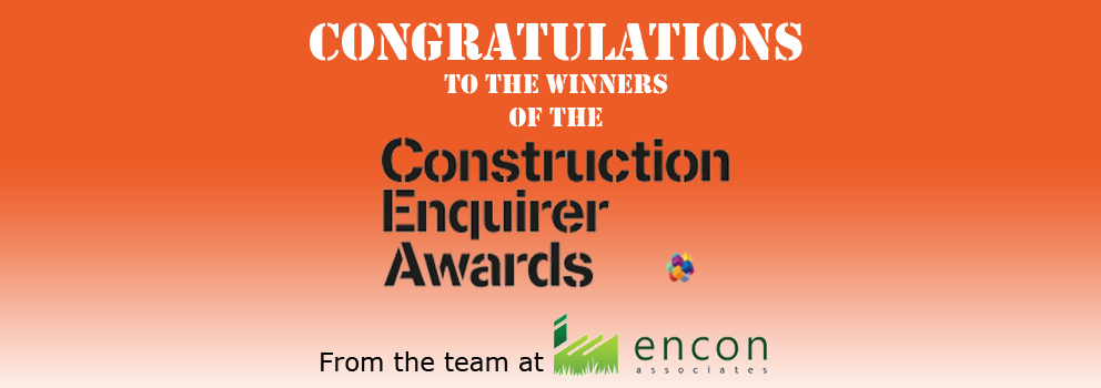 Construction Enquirer Award Winners 2016