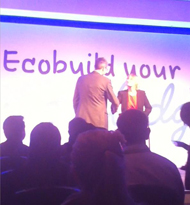 Glenn at Ecobuild Awards