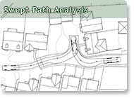 Swept path analysis for Vehicle swept path templates