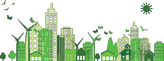 Environmental city skyline