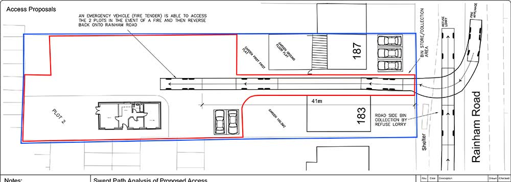 Access Proposals & Swept Path Analysis for Residential Scheme, Essex