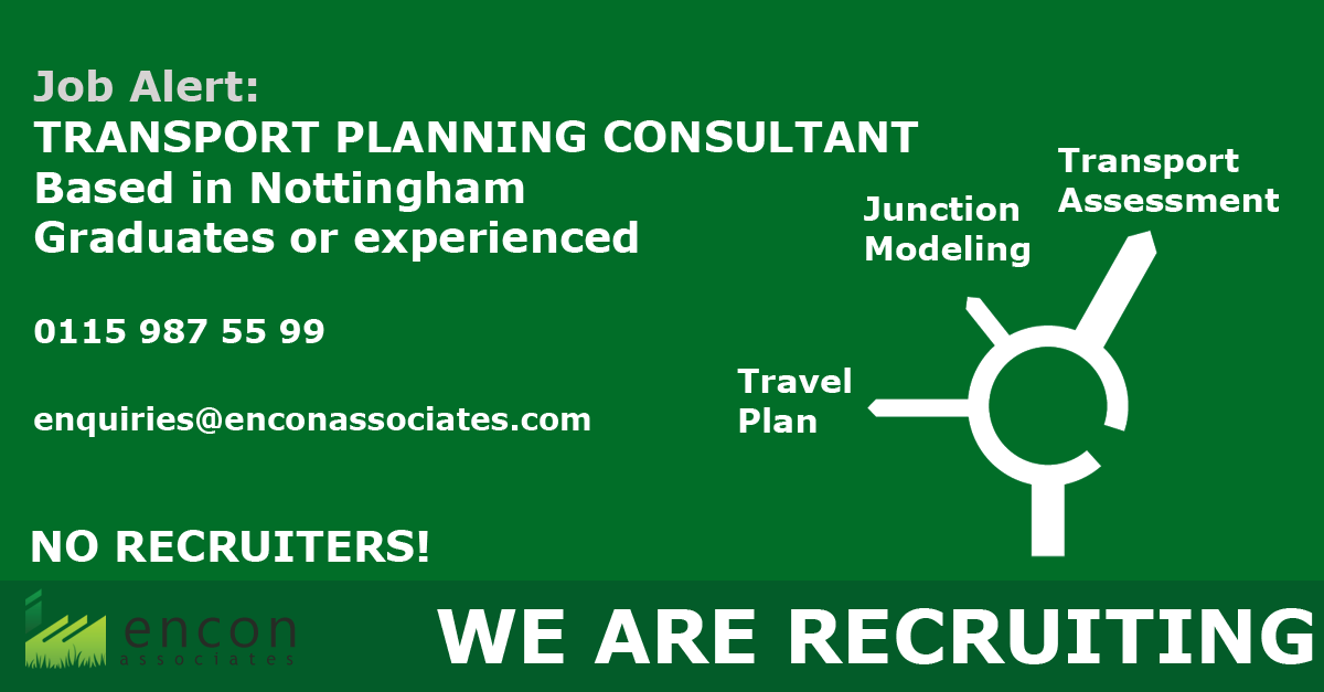 Transport Planning Consultant Job Opportunities in Nottingham